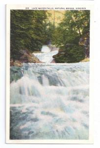 Natural Bridge Virginia Lace Water Falls VA Postcard