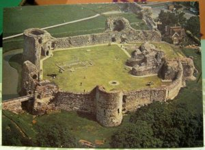 England Pevensey Castle East Sussex Aerial View - unposted