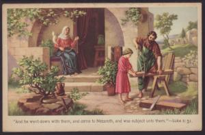 Luke 2:51 And He Went Down With Them..., Postcard