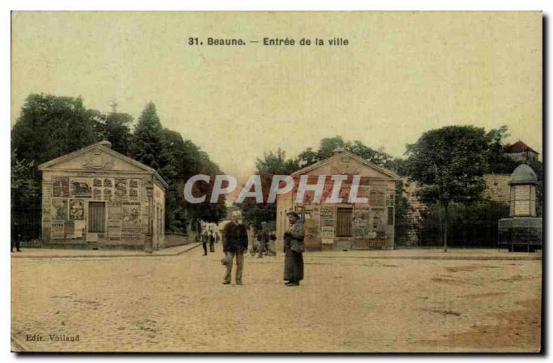 Beaune Old Postcard Entrance to the city