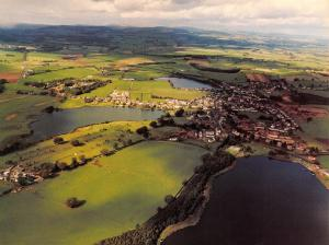 Giant Size Postcard Lochmaben, Scotland from the Air, Aerial View OS55