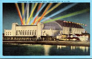 New Jersey Atlantic City Auditorium and Convention Hall At Night