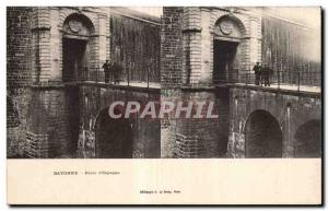 Stereoscopic Card - Bayonne - Gate of Spain - Old Postcard