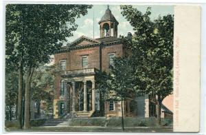 Hathorn Hall Bates College Lewiston Maine 1910c postcard