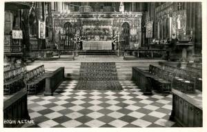UK - England, Westminster Abbey, High Altar - RPPC