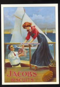 ad1053 - Jacob's Biscuits, Man Delivers at Sea by Yacht - Modern Advert Postcard