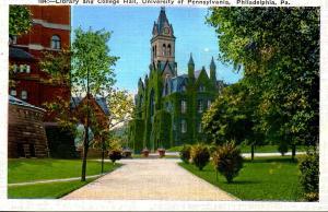 PA - Philadelphia. University of Pennsylvania, Library and College Hall
