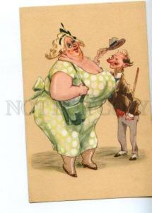 149493 COMIC Fat Woman & Thin Man vintage SAEMEC PC