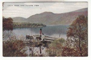P1968 old postcard ship steamer @ loch ness foyers pier valentines card scotland