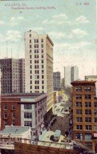 ATLANTA, GA PEACHTREE STREET LOOKING NORTH 1909