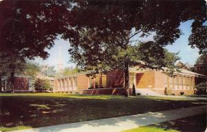 Alma College Michigan~Reid Knox Admin Building~Chapel Beyon~Shade Trees 1950s