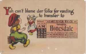 Humour Dutch Kids Railway Transfer Honesdale Pennsylvania 1909