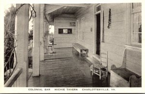 Virginia Charlottesville Michie Tavern Colonial Bar Albertype