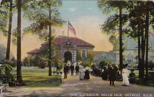Michigan Detroit The Aquarium Belle Isle 1911 Curteich