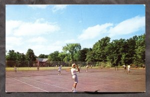 4865 - GENEVA PARK Ontario 1960s YMCA Tennis Courts on Lake Couchiching
