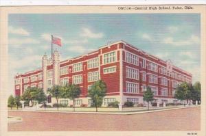 Oklahoma Tulsa Central High School Curteich