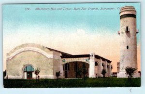 SACRAMENTO, California CA  STATE FAIR GROUNDS Machinery Hall & Tower Postcard