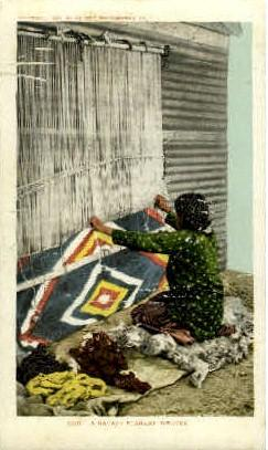 A Navajo Blanket Weaver Indian, Indians, Postcard Postcards  A Navajo Blanket...