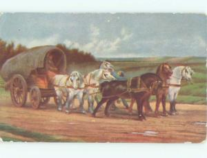 Divided-Back HORSE SCENE Great Postcard AA9388