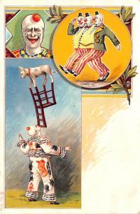 Clown Dog Balancing Clown Circus Unused