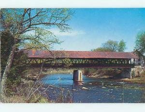 Unused Pre-1980 COVERED BRIDGE Contoocook New Hampshire NH t7465-12