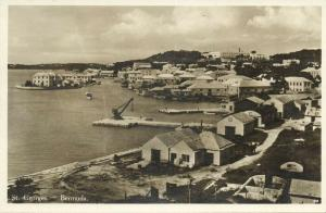 bermuda, St. GEORGES, Partial View (1920s) RPPC