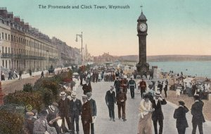 WEYMOUTH, Dorset, England, 1900-1910's; Clock Tower & Promenade