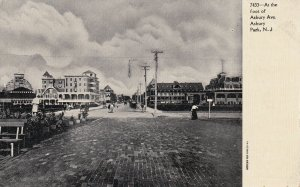 ASBURY PARK, New Jersey, 1900-1910's; At The Foot Of Asbury Avenue