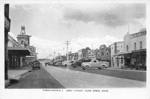 RPPC Grey Street Scene, Glen Innes, NSW, Australia c1940s Vintage Postcard