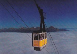 Jasper Tramway climbs to the Top of Whistler Mountain, Jasper National Park, ...