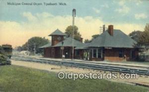 Michigan Central Depot, Ypsilanti, MI, Michigan, USA Depot Postcard, Railroad...