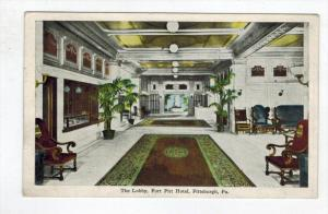 Pennsylvania Pittsburgh , Fort Pitt Hotel ,  Lobby