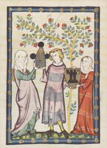 Minnesinger Miniatures Herr Otta Von Turne Medieval Art Germany