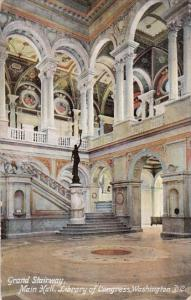 Washington DC Grand Stairway Main Hall Library Of Congress