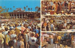 Pasadena California~Rose Bowl Stadium Flea Market~1970s Postcard