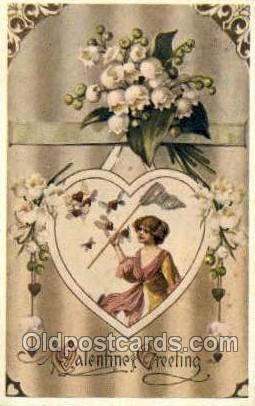Reproduction - Valentines Day, Old Vintage Antique Postcard Post Card  Reprod...