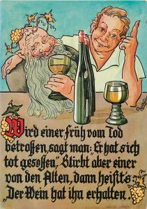 Comic Postcard drinking buddies