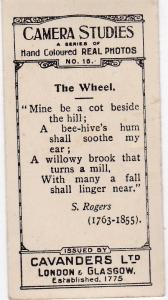 Cigarette Cards Cavanders CAMERA STUDIES Real Photos No 16 The Wheel