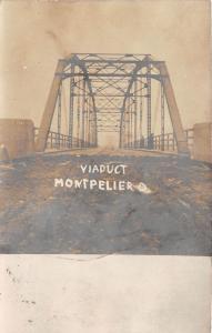 Ohio Postcard 1908 MONTPELIER Viaduct Bridge Real Photo RPPC