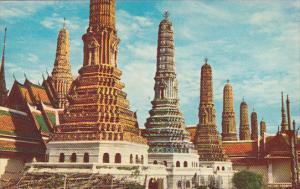 Thailand Bangkok The Seven Colored Pagoda In Wat Pra Keo In Grand Palace