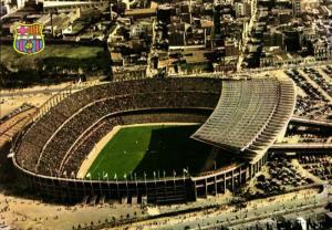 spain, BARCELONA, Estadio Nou Camp (1980s) Stadium Postcard (1)