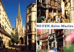 Postcard 1988 ROUEN Saint Maclou FRANCE Multiview