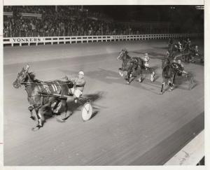 YONKERS Raceway Harness Horse Race , LOU'S HOPE wins