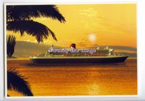 LN1143 - Cunard Liner - Queen Mary 2 , built 2004 - postcard