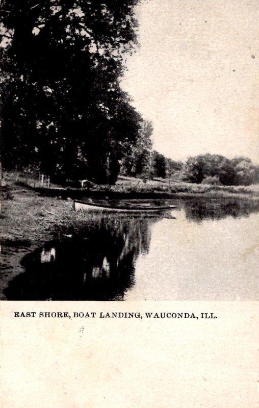 Wauconda, Illinois - The East Shore Boat Landing - in 1913