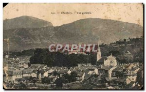 Old Postcard Chambery Vue Generale