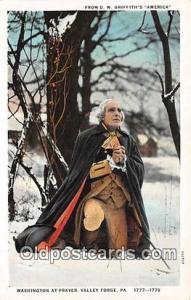 Washingtonat Prayer Valley Forge, PA 1777-1778 Postcard Post Card Valley Forg...