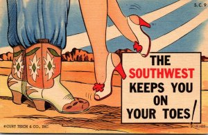 Humour Cowboy Boots & Woman's Shoes The Southwest Keeps You On Your Toes...
