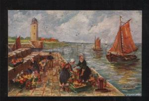 060245 GERMANY LIGHTHOUSE by Jahn Vintage embossed