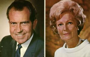 37th President of the United States Richard Nixon and his Wife Pat (1969)